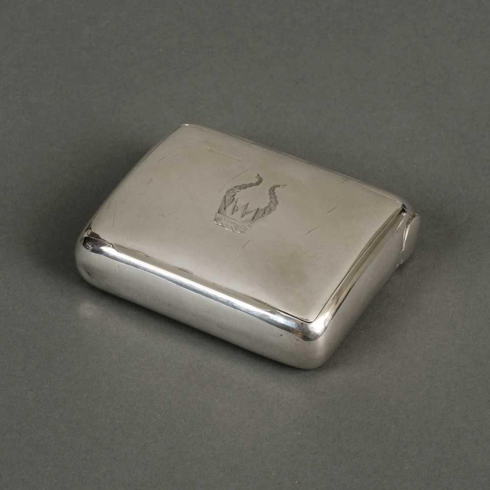Lot 220 - Tobacco Box. An Edwardian silver tobacco box