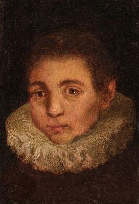 Lot 2 - Zuccaro (Federico, circa 1543-1609). Head of a Boy with a Rough, circa 1600