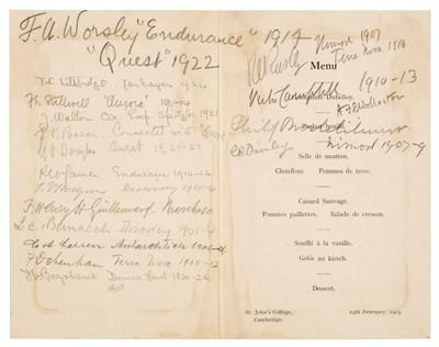 Lot 28 - Polar Menus. A group of 5 menus, 1929/59