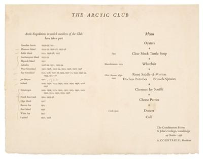 Lot 26 - Polar Menus. A group of 19 menus, 1933/59
