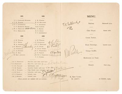 Lot 27 - Polar Menus. A group of 5 menus, 1926/32