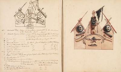 Lot 11 - D'Oyly (Charles). Armoury Book, circa 1860