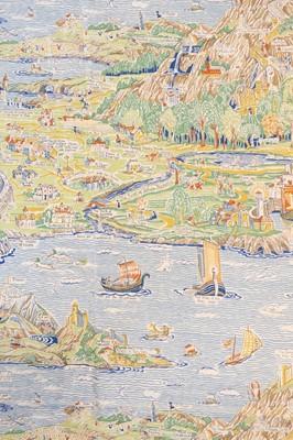 Lot 414 - Sleigh (Bernard 1872-1954). A Map of Fairland circa 1920 by Rosebank Fabrics