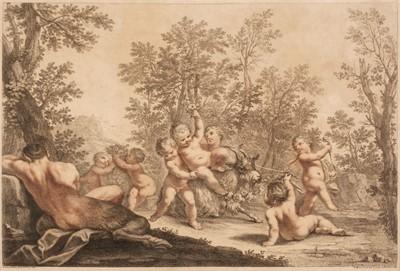 Lot 33 - Bartolozzi (Francesco, 1727-1815). Bacchanal of putti, after Franceschini