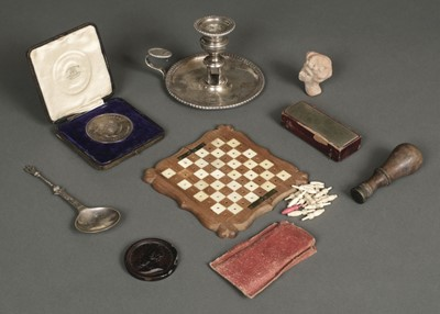 Lot 241 - Boulton (Matthew, 1728-1809). A silver-plated chamberstick and other items