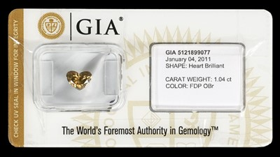 Lot 224 - Diamond. Heart brilliant cut diamond - GIA certified