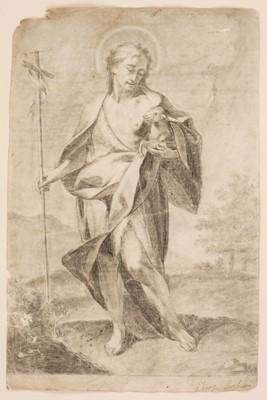 Lot 38 - Attributed to Antonio de Pereda y Salgado (1608/11-1678). Saint John the Baptist