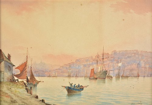 Lot 33-Morris, Garman, active 1900-1930. Falmouth, watercolour on paper
