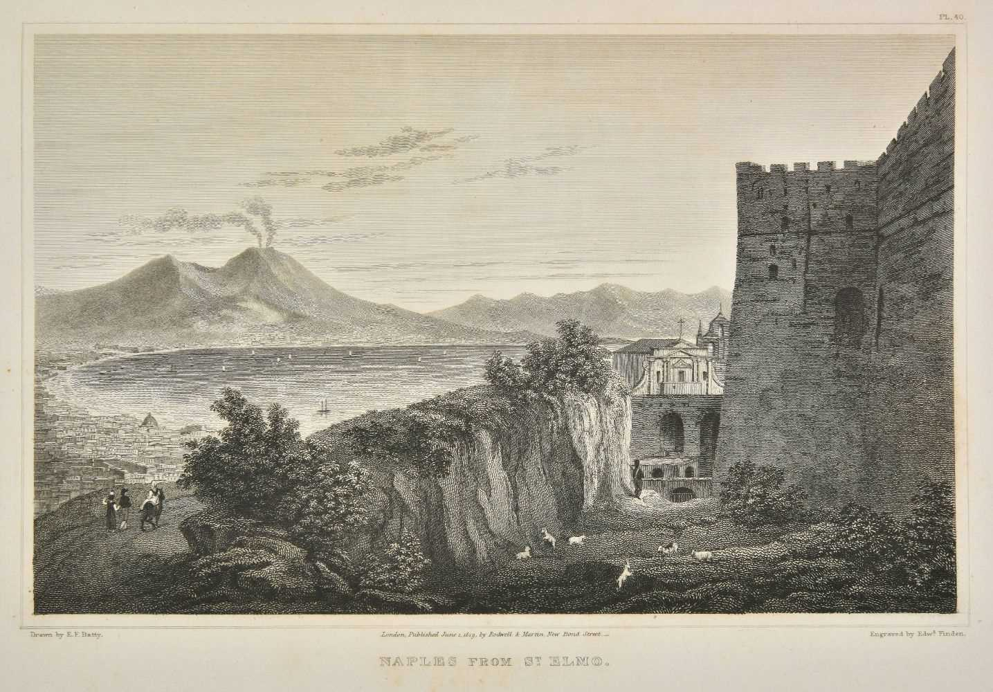 Lot 2-Batty (Elizabeth Frances). Italian Scenery. From Drawings made in 1817, 1st edition, 1820