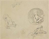 Lot 8-Attributed to Francoise L. Joseph Watteau de Lille (1758-1823).