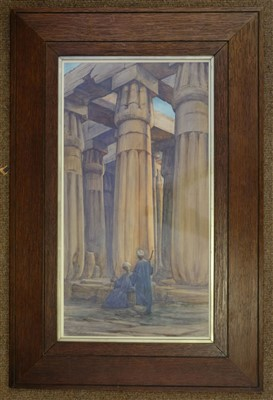 Lot 28-Johnson, Bessie, active 1885-1933. Temple at Luxor, Egypt