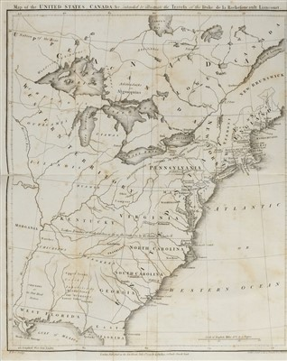 Lot 326 - La Rochefoucauld. Travels through the United States of North America, 1799