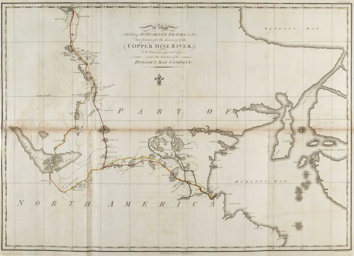 Lot 320-Hearne (Samuel). A Journey from Prince of Wales's Fort in Hudson's Bay, to the Northern Ocean, 1795